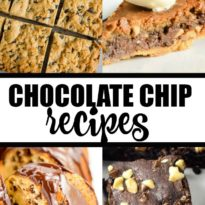 Chocolate Chip Recipes - Check out these incredible chocolate chip recipes! All types of desserts that feature sweet morsels of studded chocolate chips.
