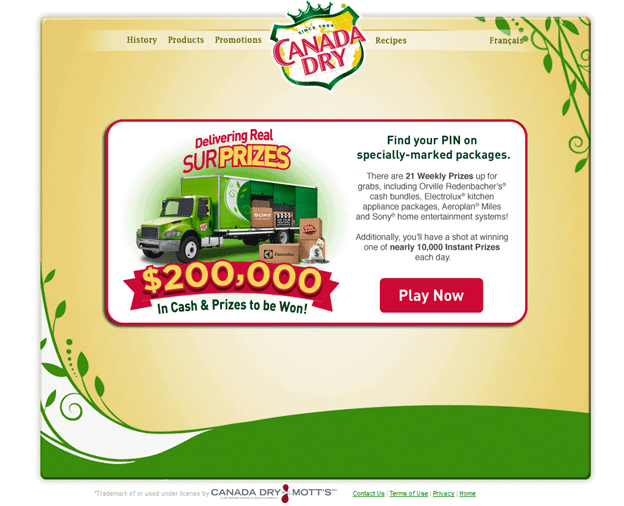 Canada Dry REAL SURPRIZES Contest #CanadaDry #REALSURPRIZES