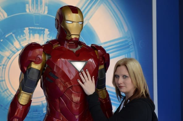 Visiting the Iron Man 3 Wax Figures at Madame Tussauds in Hollywood #IronMan3Event