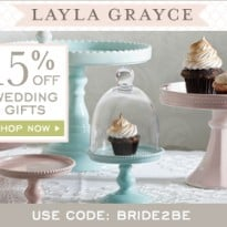 Layla Grayce Offers 15% Off Wedding Gifts