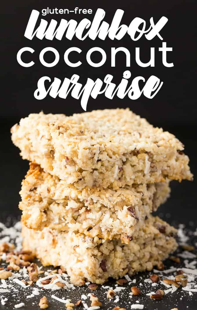 Lunchbox Coconut Surprise - These gluten-free treats are bursting with coconut flavour and are a yummy sweet treat. They are quick and simple, with minimal ingredients and are a hit with kids and kids at heart.