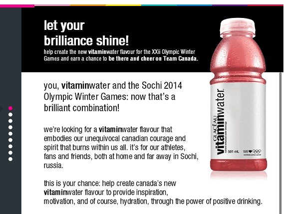 Win a Trip to the 2014 Sochi Winter Olympics from vitaminwater