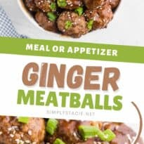 Ginger Meatballs - Add a bit of Asian flair to your meatballs!