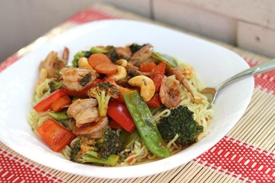 Spicy Shrimp & Vegetable Stir Fry