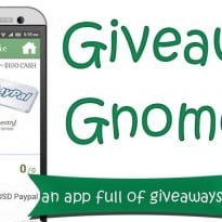 Giveaway Gnome | A Mobile App for Giveaways