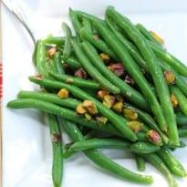 Green Beans with Warm Pistachio Vinaigrette Recipe