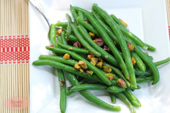 Green Beans with Warm Pistachio Vinaigrette Recipe