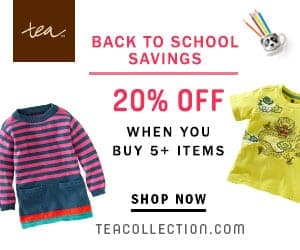 Back to School Savings at Tea Collection