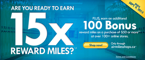 Earn AIR MILES on Back to School Shopping