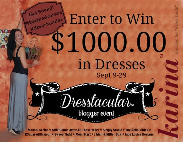 Win $1000 in Karina Dresses #Dresstacular
