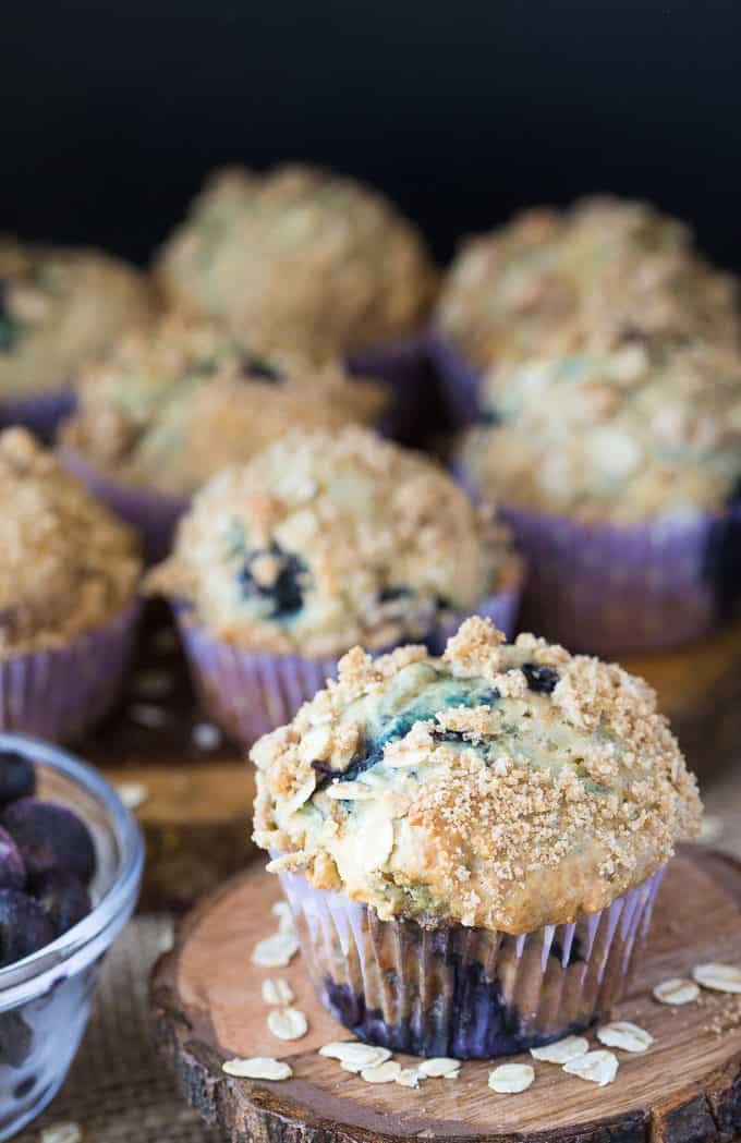 Blueberry Streusel Muffins - Start your day with a sweet indulgence! I love mine with a pat of butter.