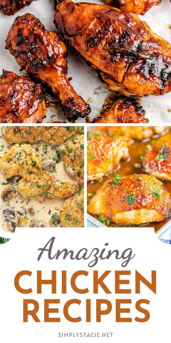 Amazing Chicken Recipes - All the recipes featured are super easy to make and guaranteed to please. Grilled, baked, fried - we have them all! And, of course, there are soups, salads, and casseroles. Whatever your family loves, you are sure to find several new recipes perfect for the menu rotation.