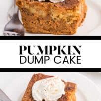 pumpkin dump cake photo collage