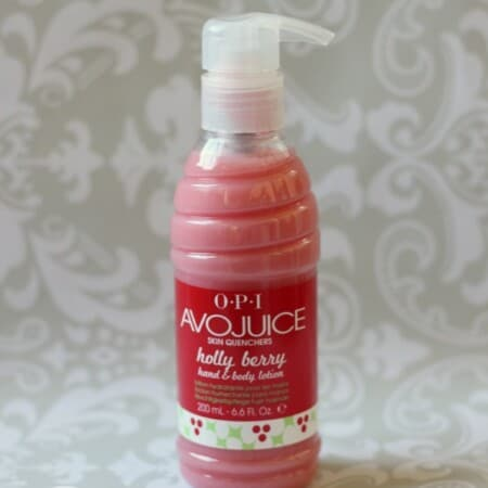 OPI Avojuice Skin Quenchers Hand & Body Lotion in Holly Berry Review