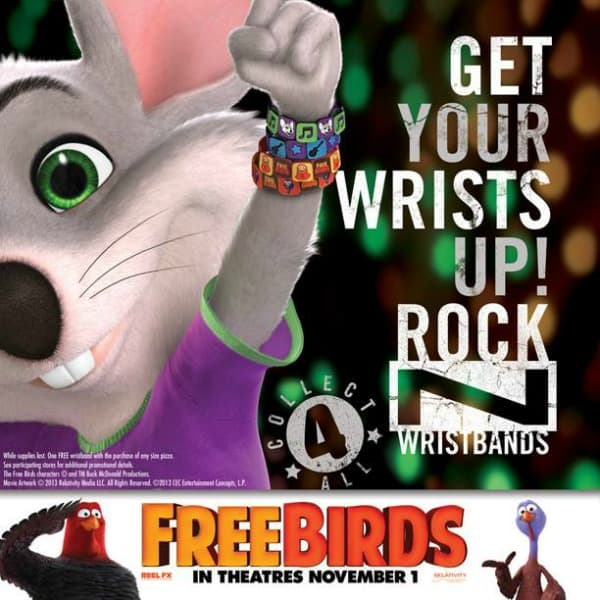 Free Birds Chuck E. Cheese Giveaway