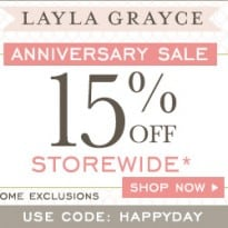 Layla Grayce Offers 15% Off Storewide