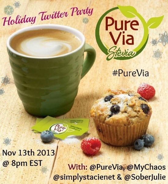 Join the #PureVia Twitter Party on 11/13 at 8pm EST