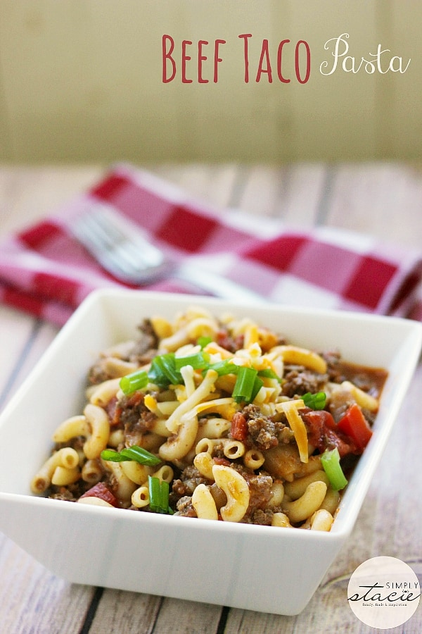 Beef Taco Pasta - this easy comfort food recipe is always a hit!