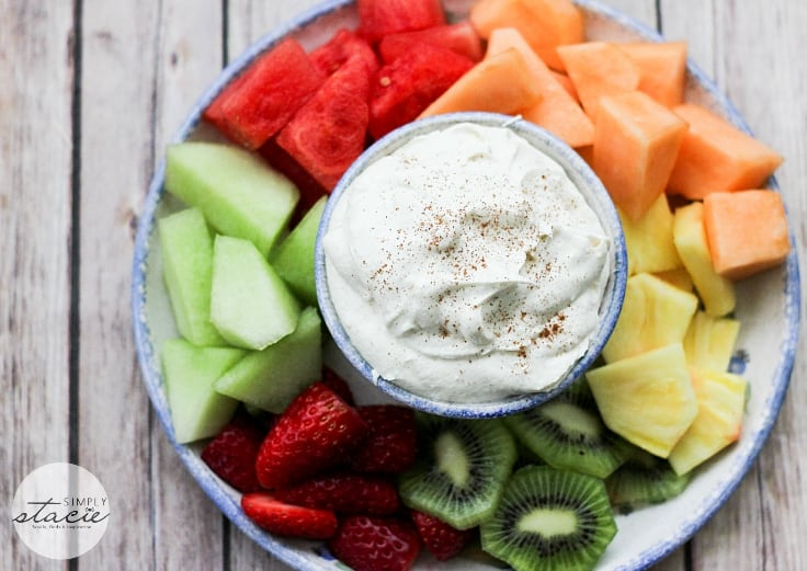 Cinnamon Cream Cheese Dip - a decadent dip for fruit, cookies or sweet crackers!