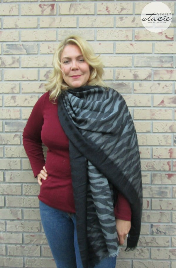 FRAAS Metallic Zebra Style Scarves Review