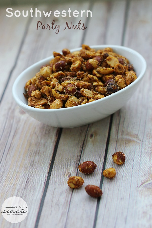 Southwestern Party Nuts - a dash of spice and hint of sweetness make for an addicting treat!