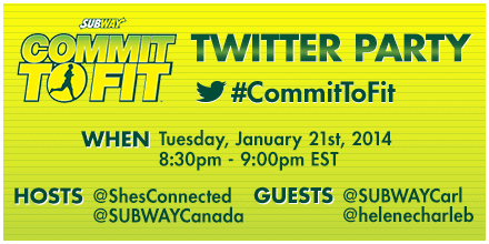 Subway Canada #Committofit January Twitter Party