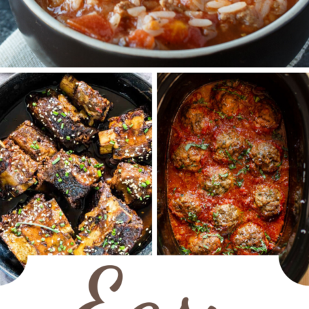 Easy Slow Cooker Recipes - In this collection of mouth-watering recipes, you will find savory recipes your family will love. From soups, stews, meats, and beans to spaghetti, lasagna, and even bread.