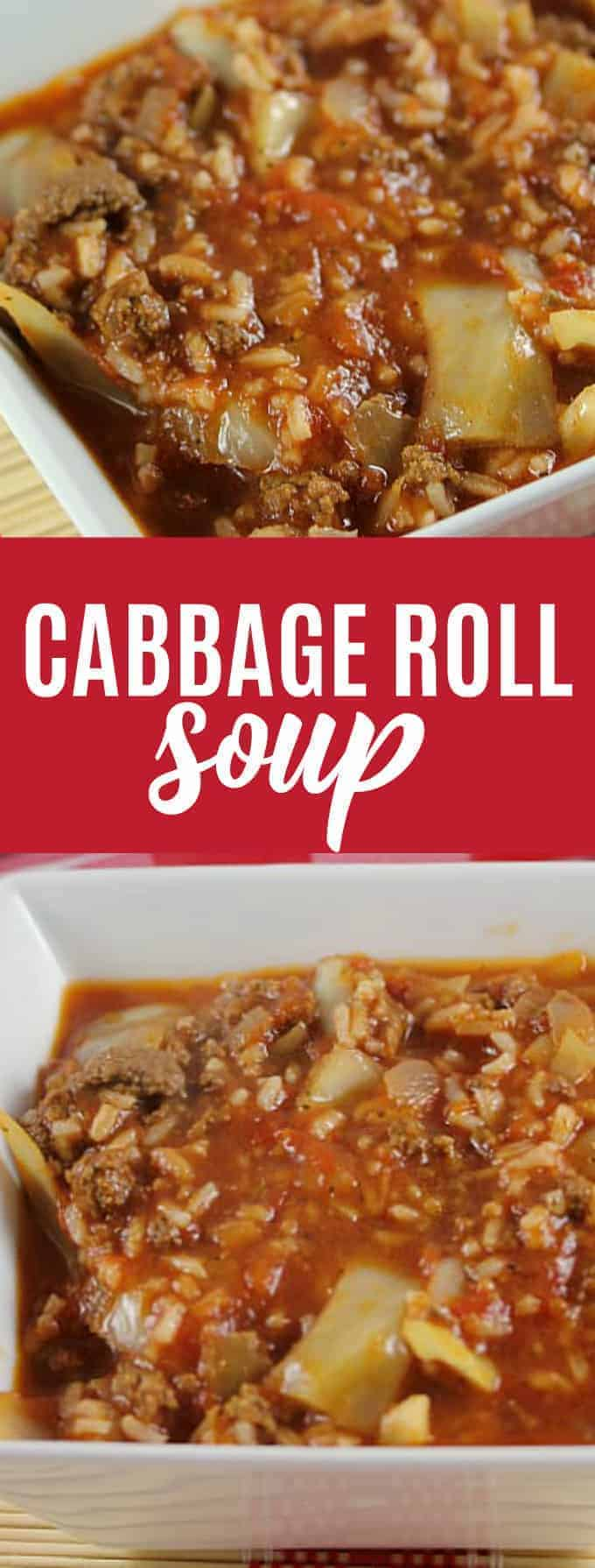 Cabbage Roll Soup - Everything I love about a cabbage roll, but 100 times easier to make!