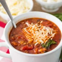 Lasagna Soup - If you love lasagna, you need to try this soup! I love it more than lasagna and it's easier to make too!
