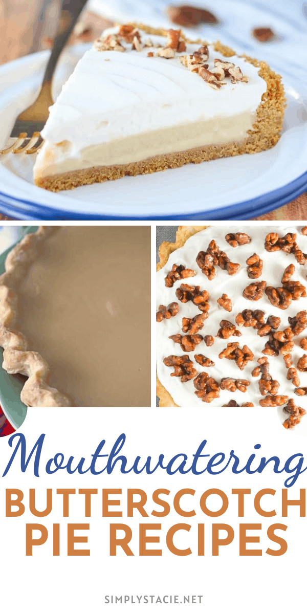 Mouthwatering Butterscotch Pies - Love butterscotch? You are going to want to try these scrumptious pies.
