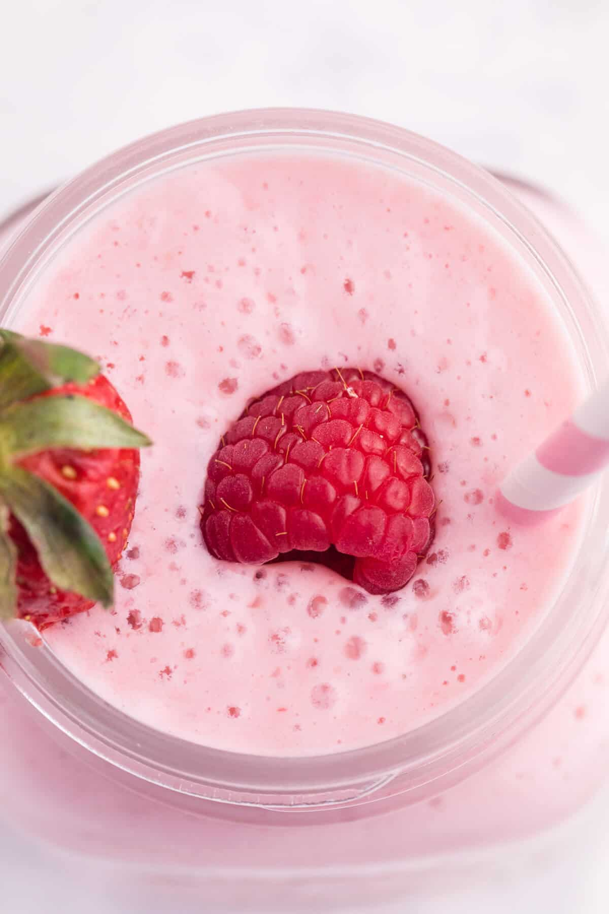 """Berry Jam Smoothie - Made with simple ingredients you're likely to have on hand like yogurt, milk and jam, you can make this quick """"berry""""-licious smoothie in no time at all!"""