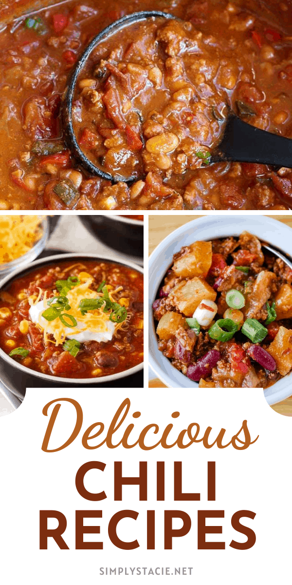 """Delicious Chili Recipes - Are you ready to delve into the mystery of chili making? Grab your favorite beverage and browse this yummy collection. These delicious chili recipes are easy to make and perfect for a hearty meal at the end of the day. And, if you have a """"secret ingredient"""" - want to share??"""
