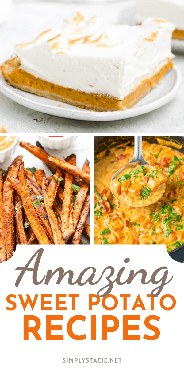 Amazing Sweet Potato Recipes - This collection includes everything from baked, fried, and roasted recipes to casseroles, dinner rolls, breads, and pies. There is even a sweet potato cheesecake!