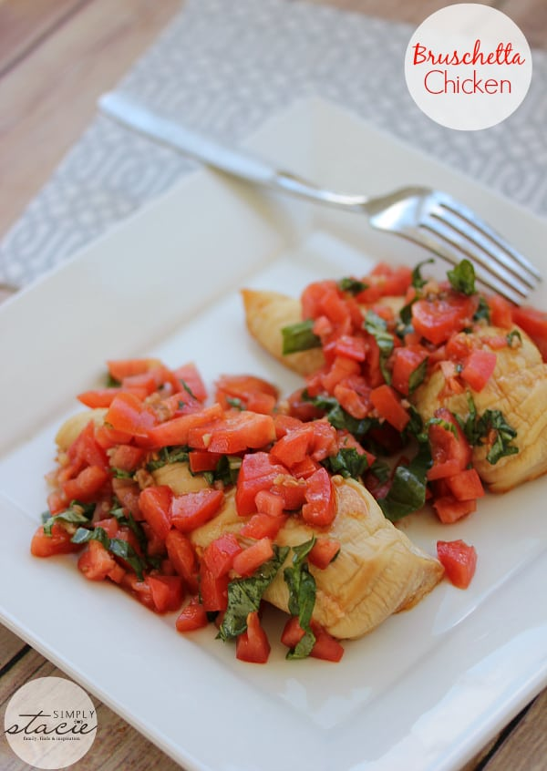 Bruschetta Chicken - only five ingredients in this mouthwatering dish!