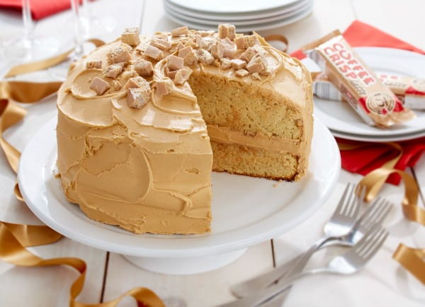 Coffee Crisp Birthday Cake