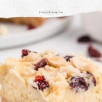 white chocolate cranberry cheesecake bars pin