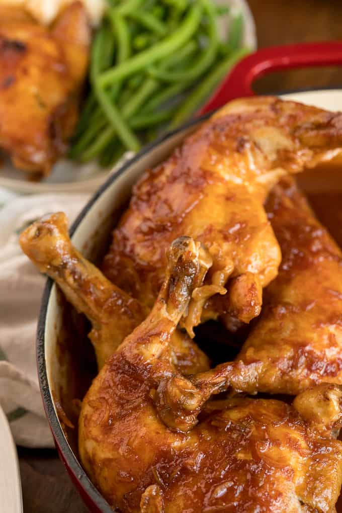 Hurry Chicken - Juicy, fall-off-the-bone delicious! This recipe was passed down from my grandmother and is always a hit!