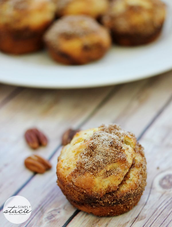 Pecan Coffee Cake Muffins Simply Stacie