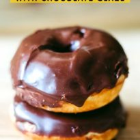 Cake Donuts with Chocolate Glaze - So easy to make with a donut pan! Baked, not fried.