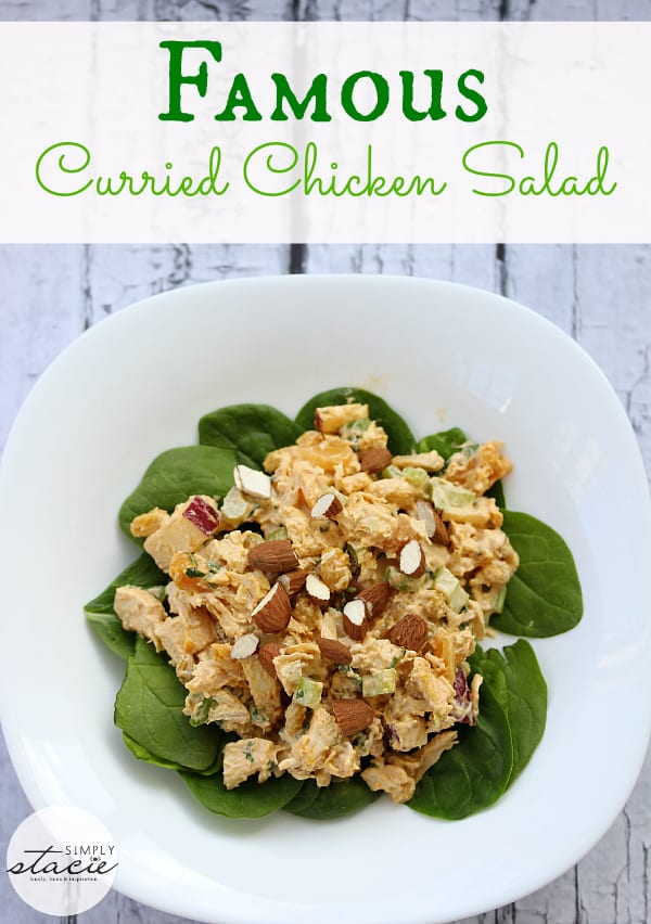 Famous Curried Chicken Salad - the BEST chicken salad you will ever taste!