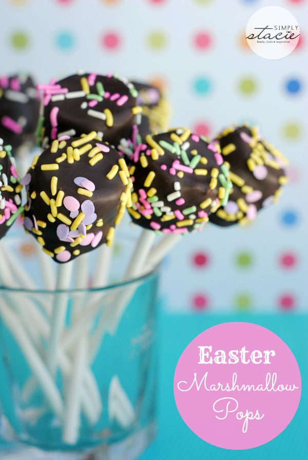 Easter Marshmallow Pops - forget cake pops! Marshmallow pops are 100x easier.
