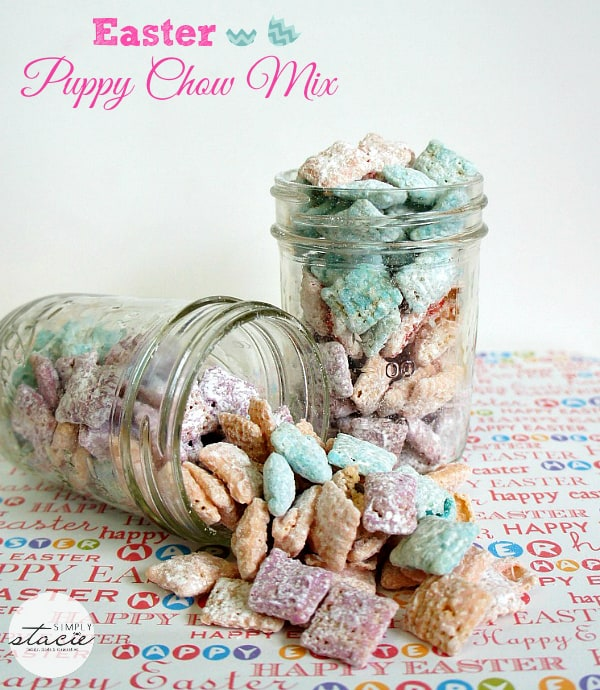 Easter Puppy Chow Mix - Munch away on this sweet snack!