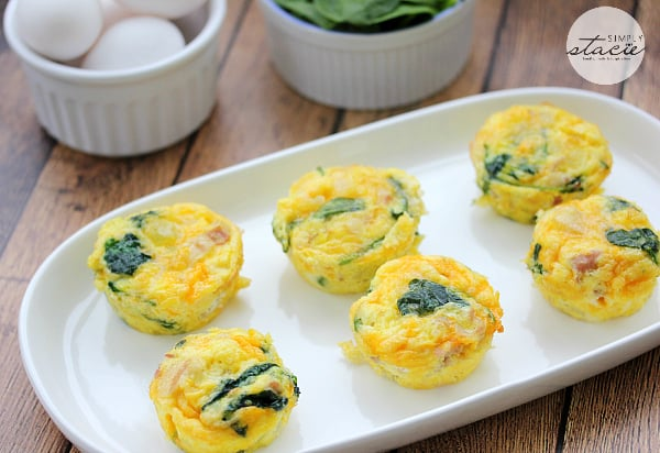 Cheese Egg Muffins - a mini frittata made with bacon, onions, cheese ...