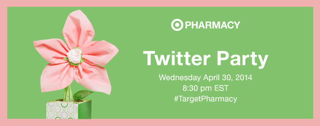Join the #TargetPharmacy Twitter Party on 4/30 8:30 pm EST!