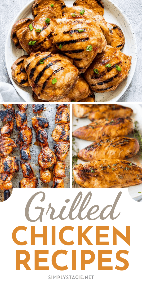 Easy Grilled Chicken Recipes - Try out these delicious grilled chicken recipes on your BBQ or grill. It doesn't need to be BBQ season for you to grill! Anytime of year is grilling season, in my opinion.