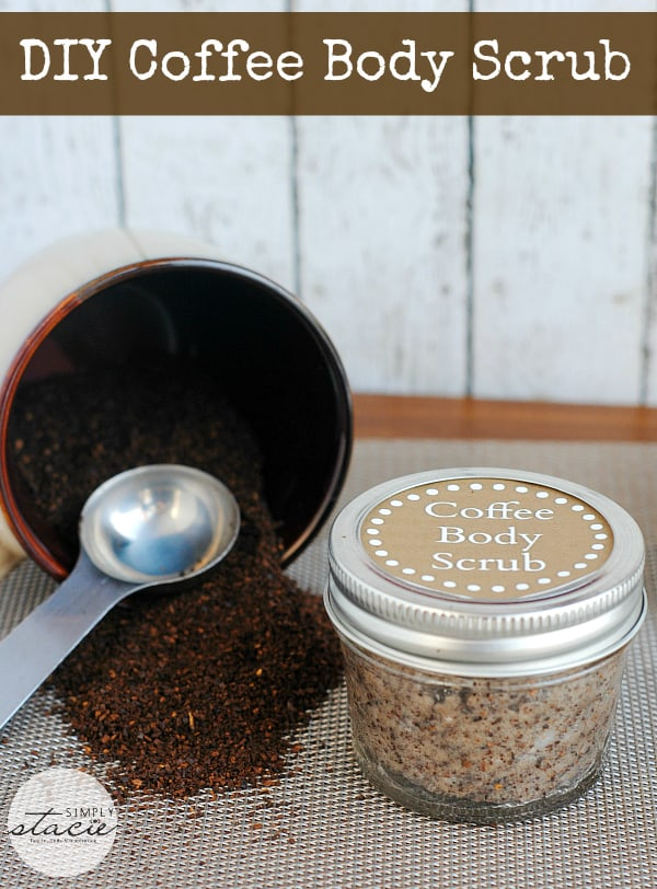 DIY Coffee Body Scrub - Make this all natural body scrub from coconut oil and leftover coffee grounds! Your skin will feel great.