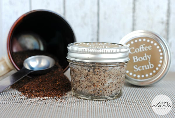 how to make body scrub from coffee grounds