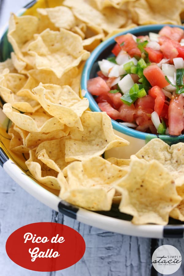 Pico de Gallo - I make mine with jalapeno peppers and serrano peppers so it's a little on the spicy side!