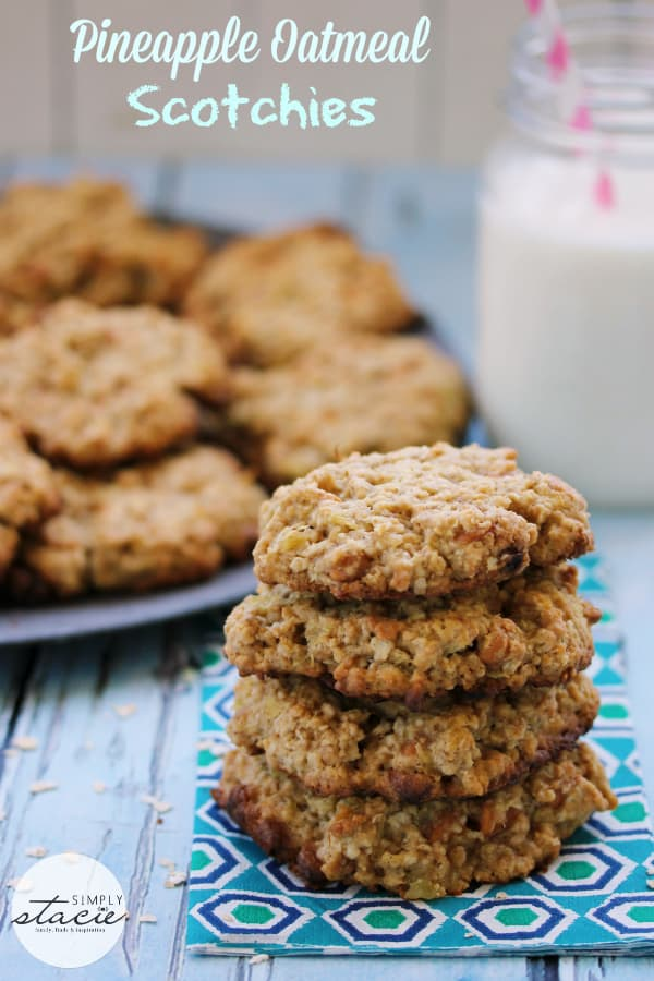 Pineapple Oatmeal Scotchies - the chewiest, moistest cookie you will ever make!