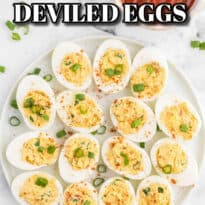 Salsa Deviled Eggs - a spicy kick to a popular appetizer recipe! This recipe is always gobbled up quickly.